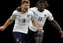 Nicolo Barella & Moise Kean football render