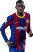Ousmane Dembélé football render