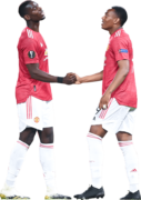 Paul Pogba & Anthony Martial football render