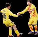 Pedri & Lionel Messi football render