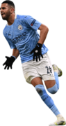 Riyad Mahrez football render