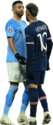 Riyad Mahrez & Neymar football render