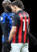 Romelu Lukaku & Zlatan Ibrahimovic football render