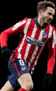 Saul Niguez football render