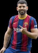 Sergio Agüero football render