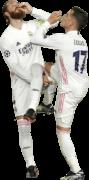 Sergio Ramos & Lucas Vazquez football render