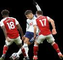 Thomas Partey, Erik Lamela & Cédric Soares football render