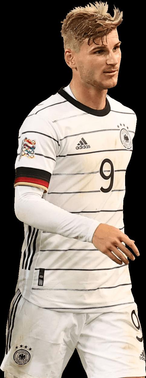 Timo Werner football render - 71071 - FootyRenders