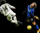 Weston McKennie & Nicolo Barella football render