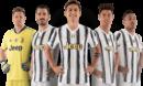 Wojciech Szczesny, Leonardo Bonucci, Paulo Dybala, Cristiano Ronaldo & Alex Sandro football render