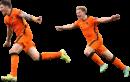 Wout Weghorst & Frenkie de Jong football render